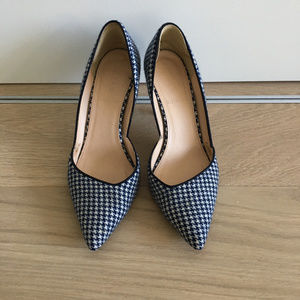 J.CREW Navy Colette D'orsay In Houndstooth
